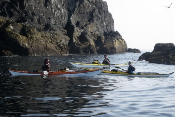 Joff, Hugh and Nick in the Fastnet Channel