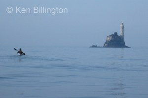 Joff approaches the Fastnet Rock