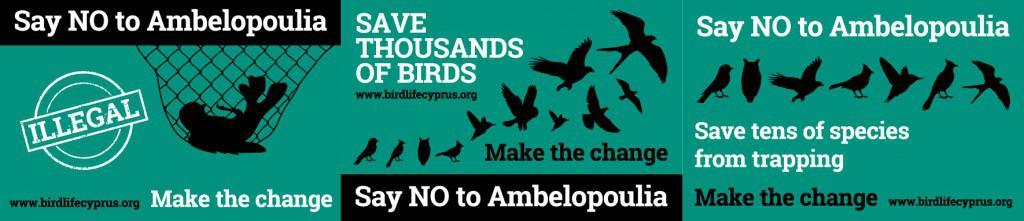 Birdlife Cyprus - anti trapping webbanner