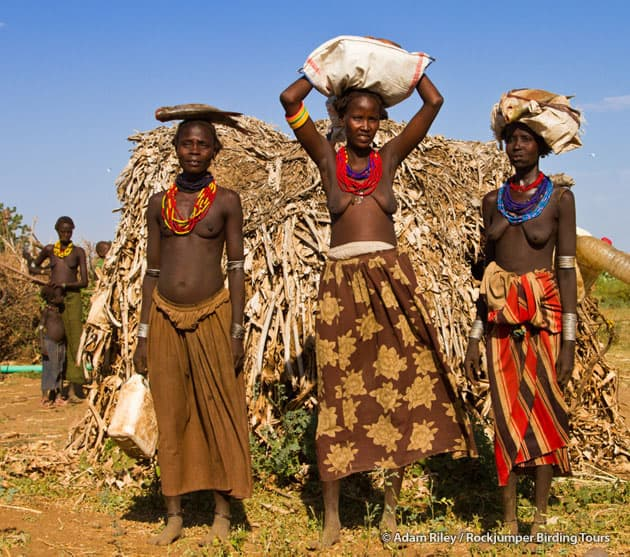 Back from the market - Dassanech at their homestead